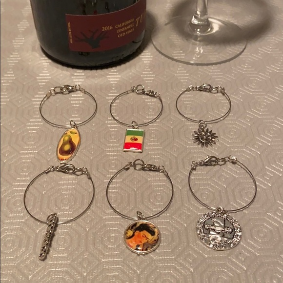 Wine charms set of 6